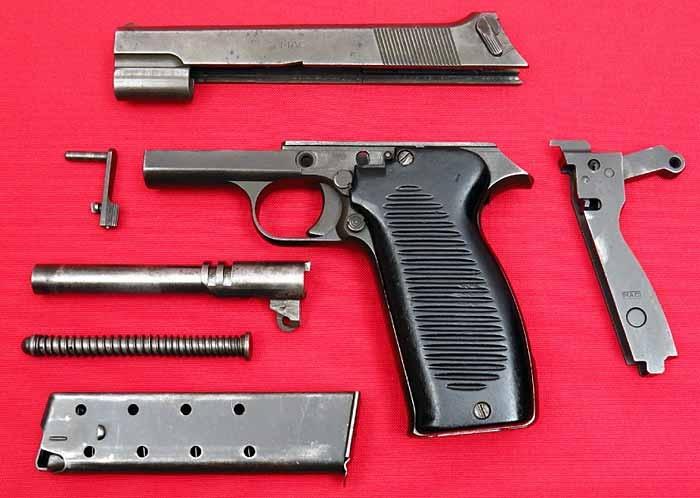 Неполная разборка пистолета MAC Modеle 1950