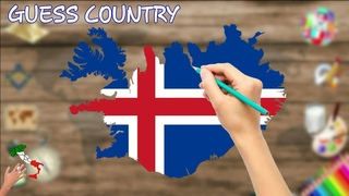 Learn flags. Guess the country. Quiz for kids