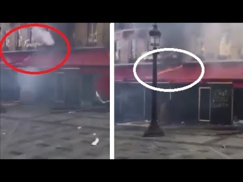 GJ PARTAGEZ la Police a Mis le Feu au FOUQUET'S Bombe Lacrymo