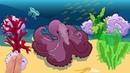 Мультфильм про русалочку и морских обитателей. Развивающий мультик для детей.
