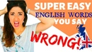 20 EASY ENGLISH words you COMMONLY MISpronounce English Pronunciation Lesson with Phonetics