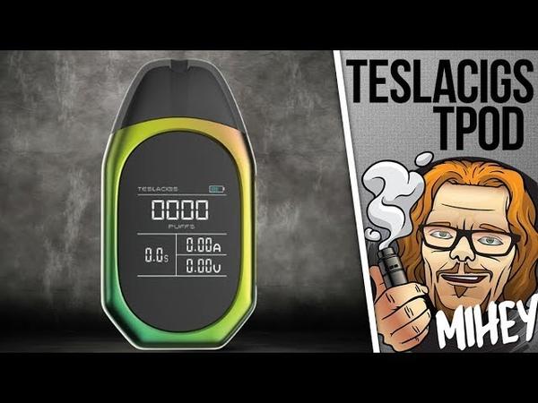 Teslacigs TPOD Pod System 500mAh Тугая затяжка тусклый экран 🎷🎻🎹🎸