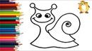 Раскраска для детей СМЕШНАЯ УЛИТКА. Мультик - Раскраска. Учим цвета II ОБУЧАШКА ТВ