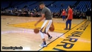 Stephen Curry pregame dribbling warmup