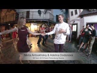 Salsa. Live. Nikita Antsukhskiy & Adelina Dodonova    NY fest. 2019