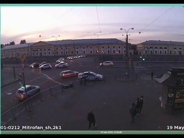 Дтп с мото 19 05 2019 на перекрестке Обводного канала и Митрофаньевского ш