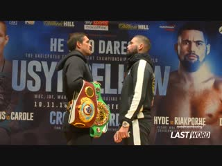 Oleksandr usyk - tony bellew face off александр усик - тони беллью лицом к лицу
