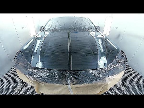 Painting car / Porsche Cayenne | Cromax Pro | Clear coat / Iwata ws400