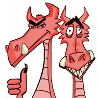 Логотип Подземелье и дракон - настольные игры в Омске