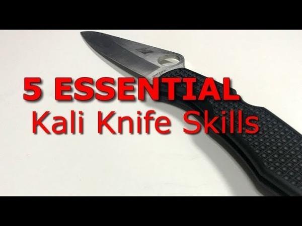 5 ESSENTIAL Kali Knife Fighting Basics filipino knife fighting