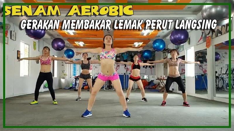 SENAM AEROBIC MEMBAKAR LEMAK PERUT CEPAT LANGSING | Burn Calories