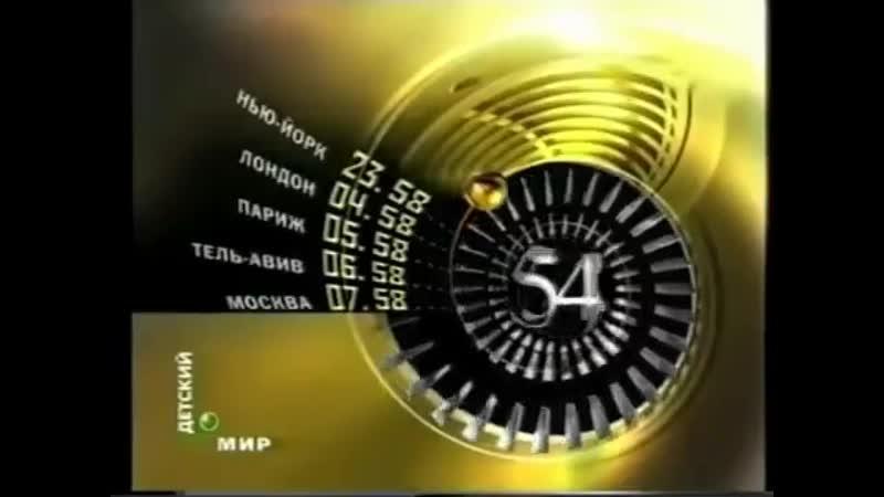 НТВ Часы ТелеКлуб Детский мир 20 03 2004