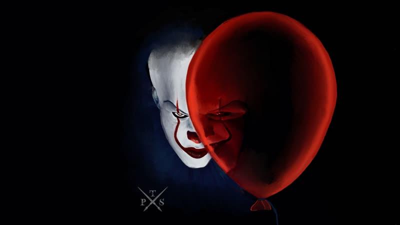 Рисунок клоуна Пеннивайза из фильма Оно