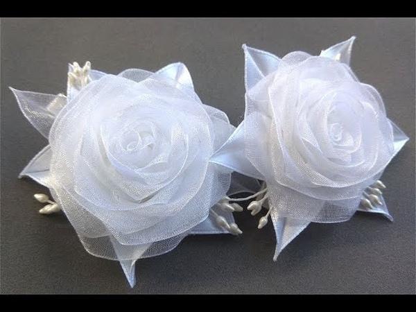 ПРОСТЫЕ РОЗОЧКИ ИЗ ОРГАНЗЫ DIY Beautiful Organza Roses