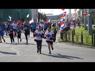 "За бег! ""Авангард""-2007 и ""Авангард ""-2008 приняли участие в ХХХ Сибирском международном марафоне"