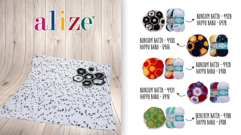 Alize Burcum Batik ile Kullanışlı Battaniye Yapımı Making Useful Blankets