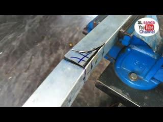 Как согнуть профильную трубу на 90 градусов