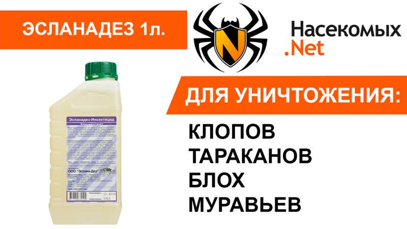 Инсектицидное средство от клопов тараканов блох муравьев Эсланадез