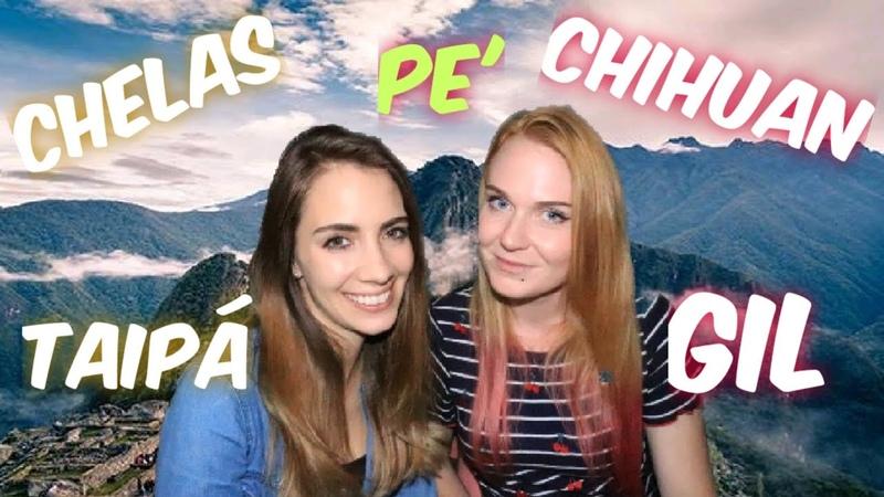 CANADIENSE Y RUSA hablando JERGAS peruanas
