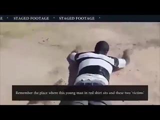 СМИ опубликовали видео постановочной химатаки в Идлибе террористов белых шлемов