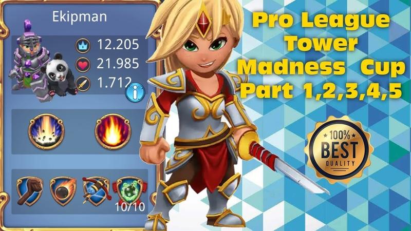 Royal Revolt 2 l Pro League Tower Madness Cupa Part 1,2,3,4,5