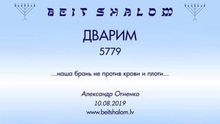 «ДВАРИМ» 5779 «НАША БРАНЬ НЕ ПРОТИВ КРОВИ И ПЛОТИ» А.Огиенко ()