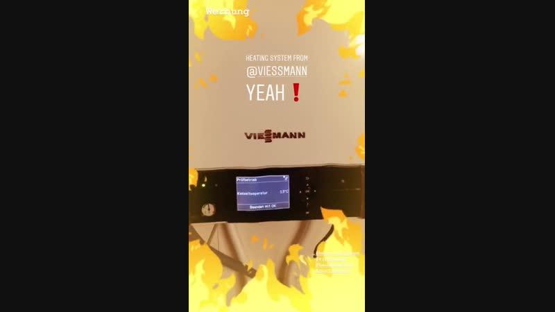 Gustav Schäfer Instagram Stories (21.12.2018) Реклама. Система отопления от Viessmann. О, да! ❗