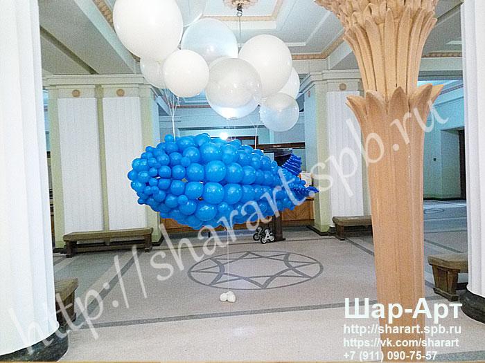 дирижабль из воздушных шаров