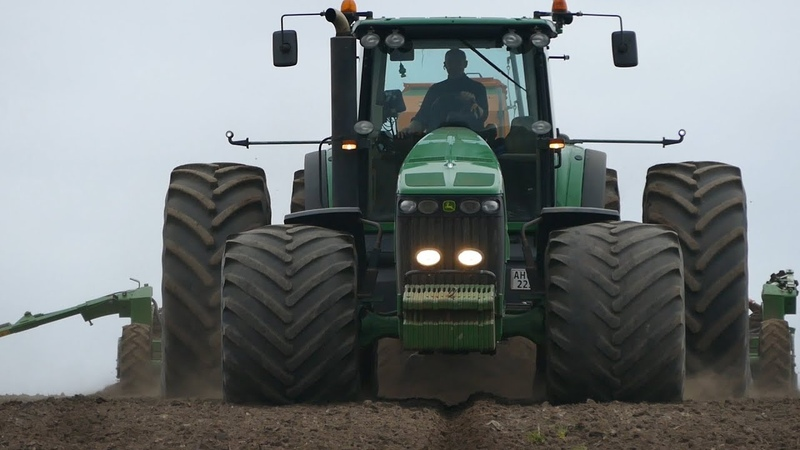 John Deere 8430 w/ HUGE Tires Seeding The Field | John Deere 8345R 8230 Ploughing | DK Agri