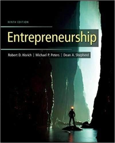 Entrepreneurship 9th Edition