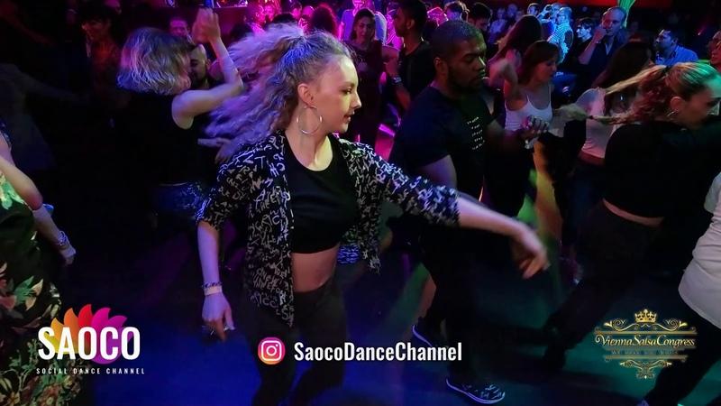 Byron Johnson and Mell Rbell Salsa Dancing at Vienna Salsa Congress 2018, Thursday 06.12.2018
