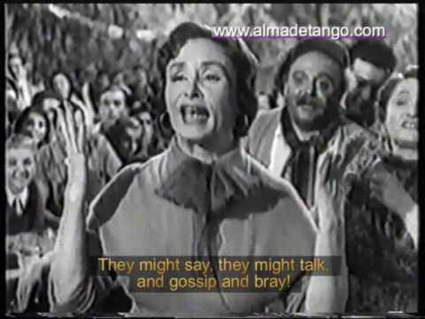 Tita Merello Se Dice de Mi English Subtitles From the Movie Mercado de Abasto Lucas Demare