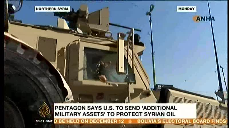 Oct 2019 US Moves into Syrian Oilfields to Protect from ISIL