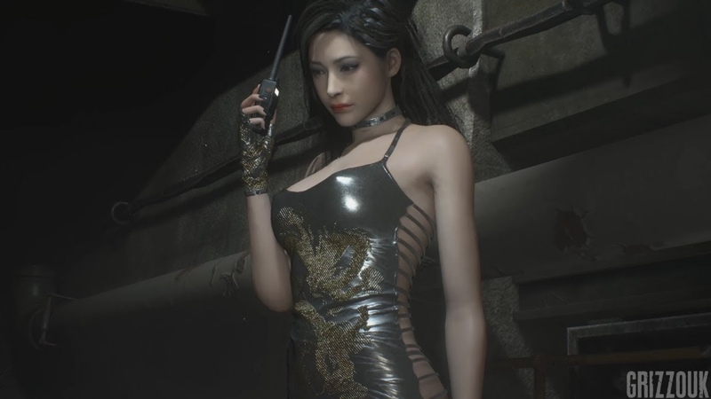 Resident Evil 2 Remake Ada Wong in Silver Dragon Dress PC Mod