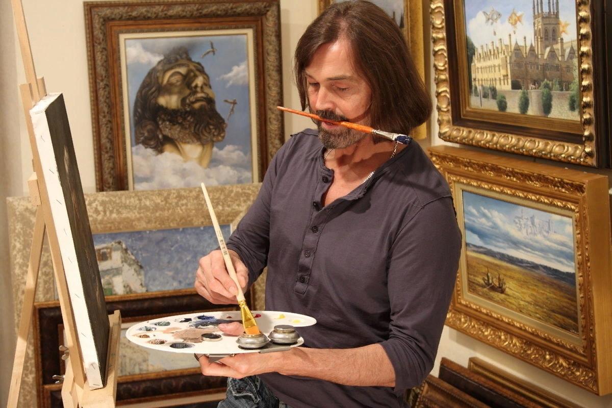 каково художник пишет картину картинки же