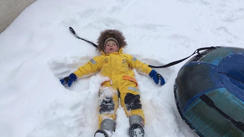 Ангел на снегу сыну 3 года Didrikson комбинезон Детский