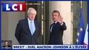 Emmanuel Macron à Boris Johnson L'avenir du Royaume Uni ne peut se trouver qu'en Europe