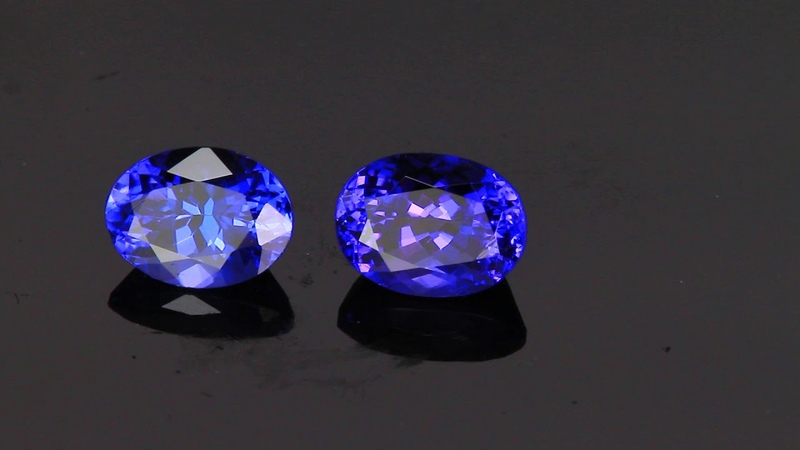 Tanzanite 8x6 Oval Matched Pair 3.23 Carats