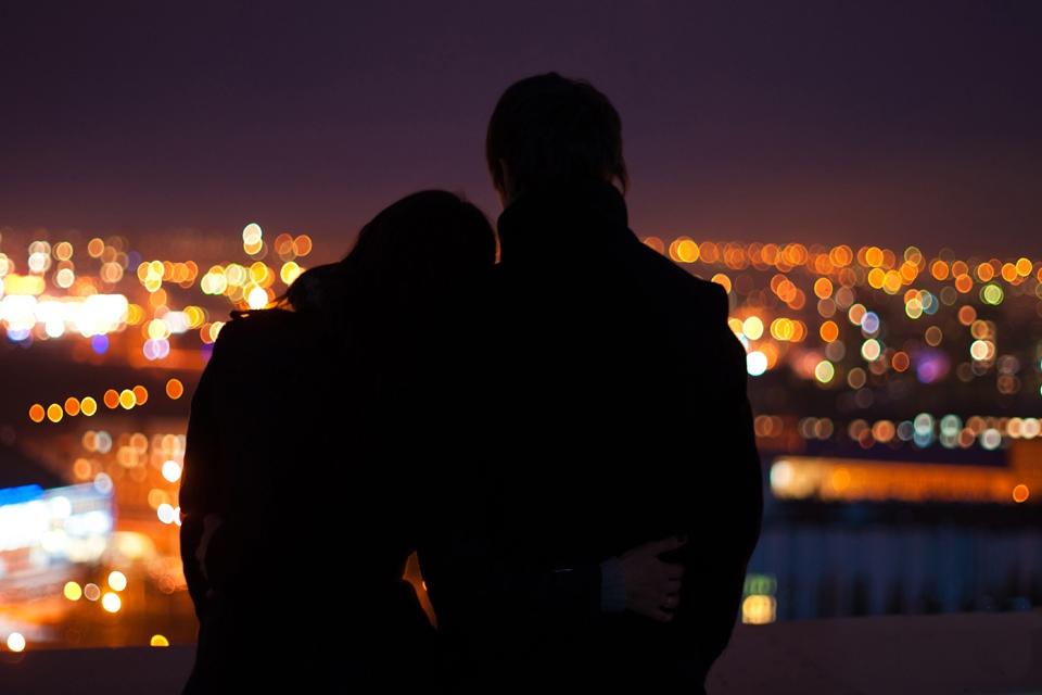 Картинки с парнем и девушкой обнимаются ночью, картинки