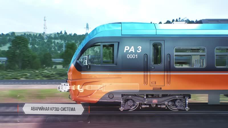 Новейшая разработка ТМХ рельсовый автобус РА 3