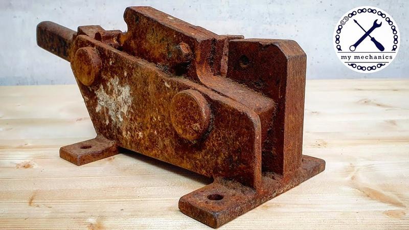 Rusty Jammed Rebar Cutter Restoration