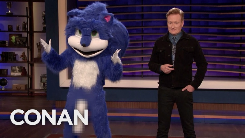 The New Improved Sonic The Hedgehog Stops By CONAN - CONAN on TBS