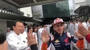 Repsol H nda Team High fives if you re excited for the JapaneseGP Incredible reception at Honda R amp D in Asaka for @marcmarquez93 today 1184461845454671872