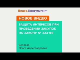 Защита интересов при проведении закупок по закону № 223-ФЗ, Ольга Беляева