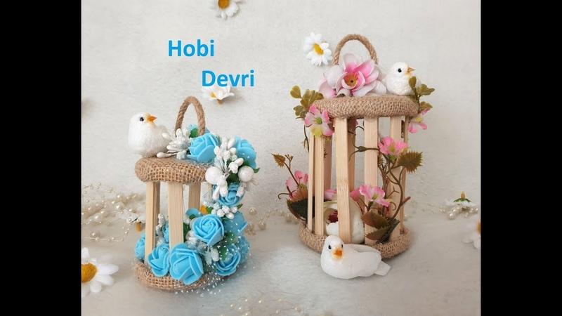 DIY Flower BirdCage With Jar Lid,Wedding Favors,Home Decor, Kavanoz Kapakları İle Çiçek Kafesi
