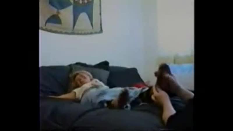 Ariels Nylon Feet Gets Tickled Part 1