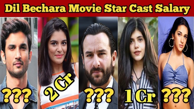 Dil Bechara Movie 2019 Star Cast Salary | Sushant Singh Rajput | Sanjana Sanghi | Saif Ali Khan