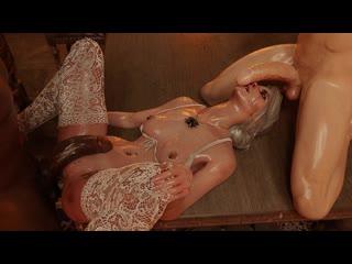 Ciri part 3 Порноверсии игр и мульт / 3DCG Porno semen blowjob sperm отсос минет сперма кончил в глотку секси блондинке брюнетке