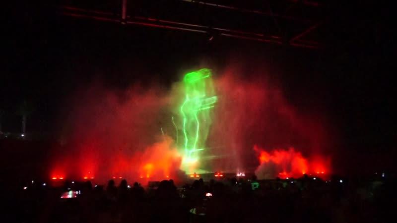 Шоу магия танцующих фонтанов. Протарас. Кипр.