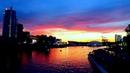 Футаж Закат над Городом. Закат, Город, Красивое Небо на Закате. Футажи для видеомонтажа. Видеофутажи